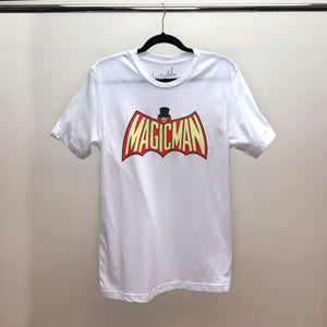 Invisible Threads limited edition dove white MagicMan tee shirt