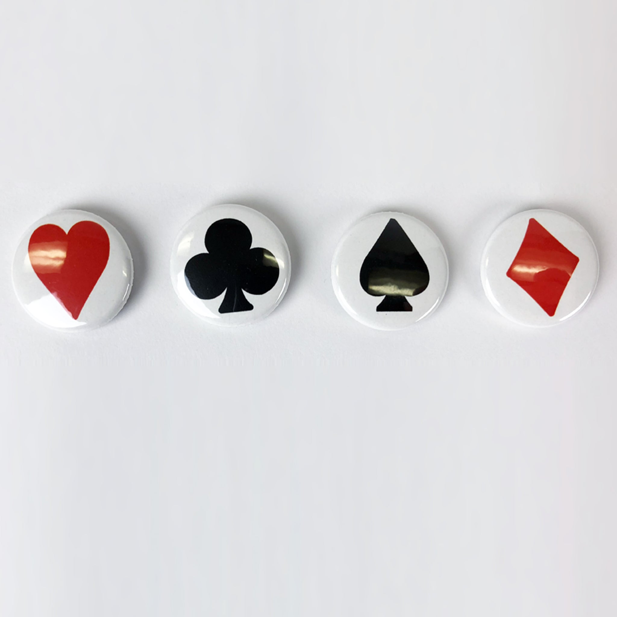 Poker Suits button set