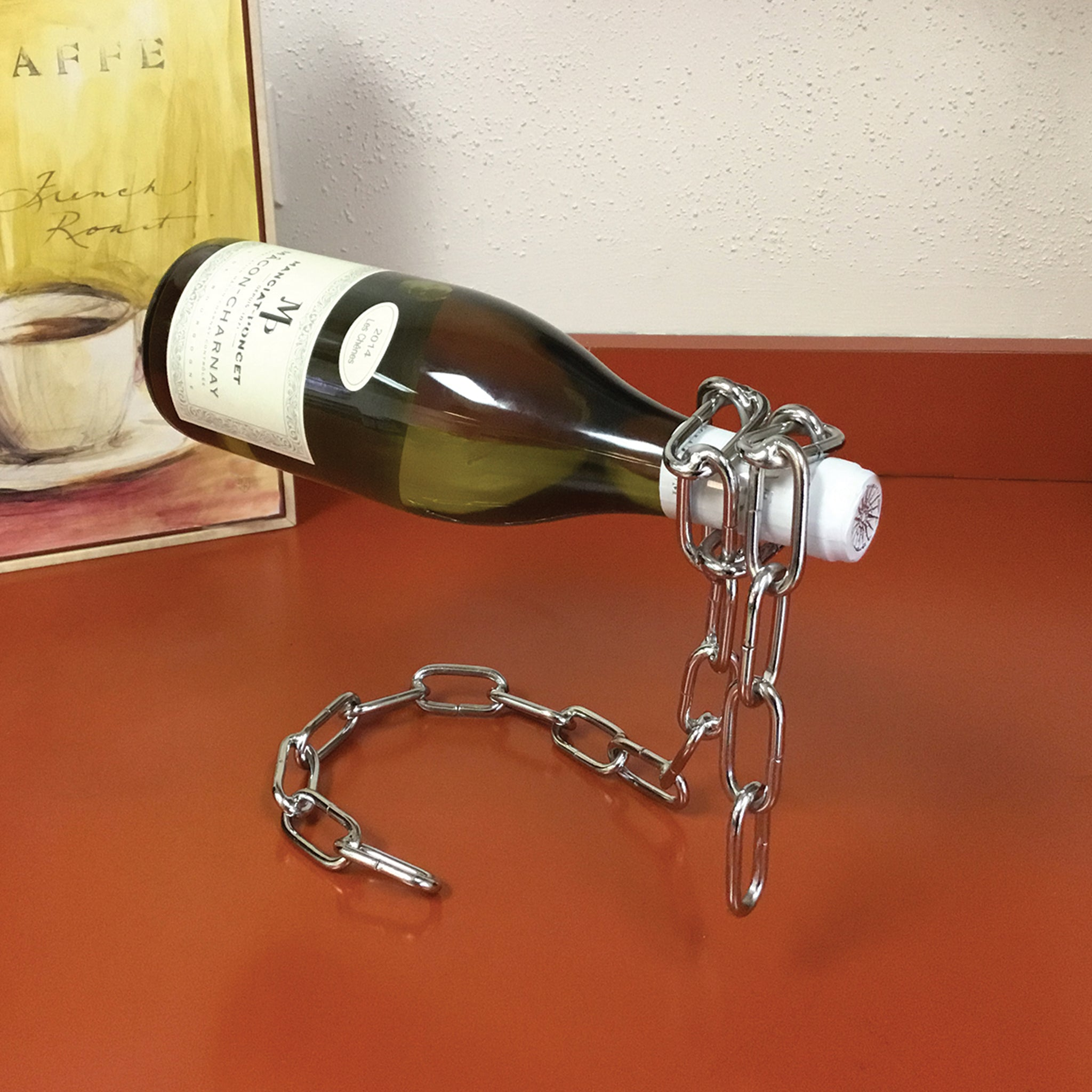 Chain Suspension Wine Bottle Holder Invisible Threads Clothing