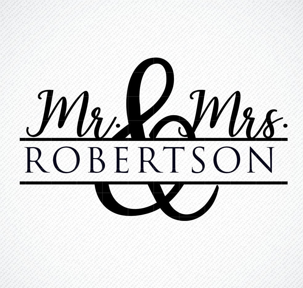 Wedding Svg, Svg files for Cricut, Marriage Svg, Love Svg, Mr and Mrs Svg,  Custom Wedding Svg, Dxf, Svg files for Silhouette, Clip Art