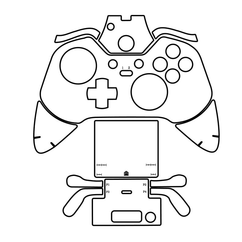 Xbox One Elite Controller Cut File Skin Template File Svg