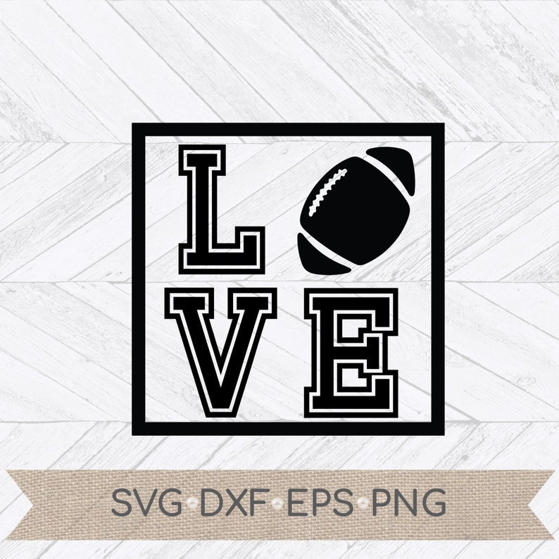 Get Love Football Svg Design
