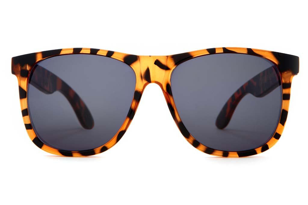 The Beach Party - Gloss Tiger Tortoise - w/ Grey CR-39 Lenses - Sunglasses