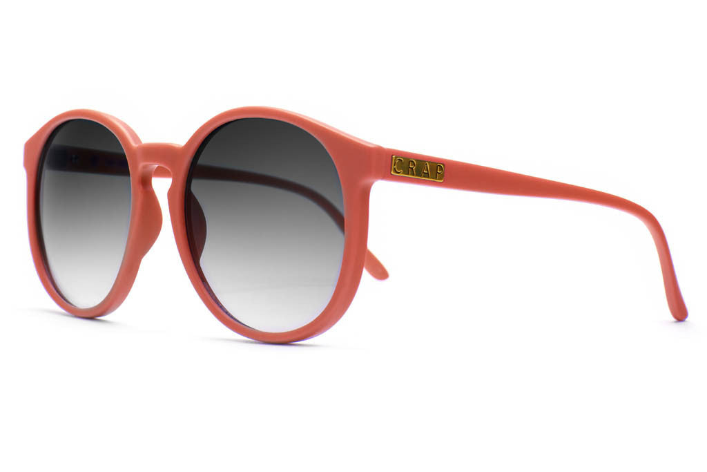 The Human Fly - Matte Coral - w/ Grey Gradient CR-39 Lenses - Sunglasses
