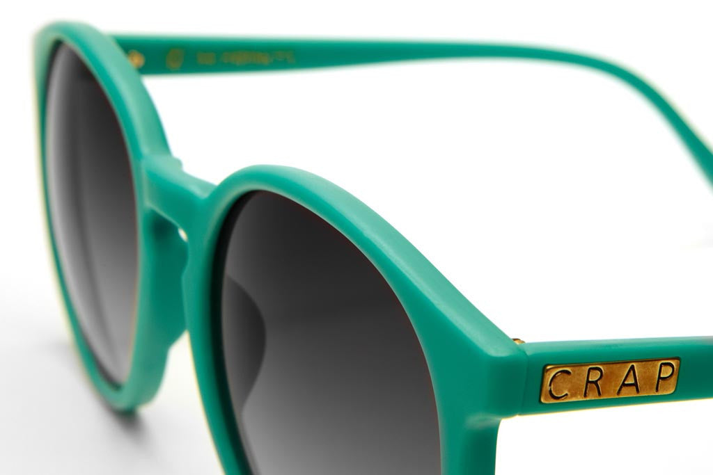 The Human Fly - Matte Turquoise - w/ Grey Gradient CR-39 Lenses - Sunglasses