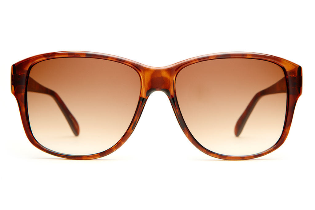 The Lo Max - Gloss Tortoise - w/ Amber Gradient CR-39 Lenses - Sunglasses