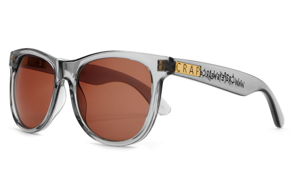 The Nudie Mag - Crystal Ash - w/ Amber CR-39 Lenses - Sunglasses