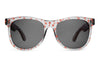 The Nudie Mag - Crystal Ash w/ Coral Palm Print - w/ Grey CR-39 Lenses - Sunglasses