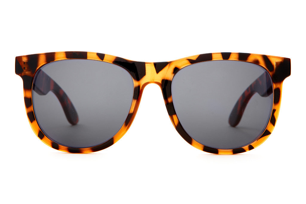 The Nudie Mag - Gloss Tiger Tortoise - w/ Grey CR-39 Lenses - Sunglasses