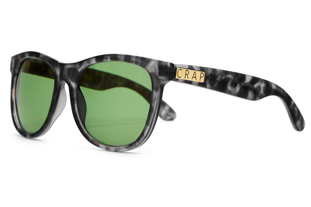 The Nudie Mag - Matte Ash Tortoise - w/ Green Tint CR-39 Lenses - Sunglasses