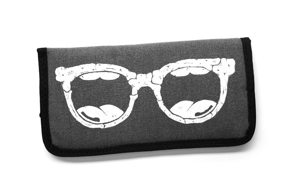 The Pop Control - Flat Black & Silver Brow Accents - w/ Silver Wrapped Grey CR-39 Lenses - Sunglasses