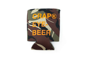 Eye Beer Coozie - Camo - / Orange - Accessories