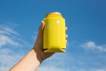 Palm Sup Coozie - Yellow - / White - Accessories