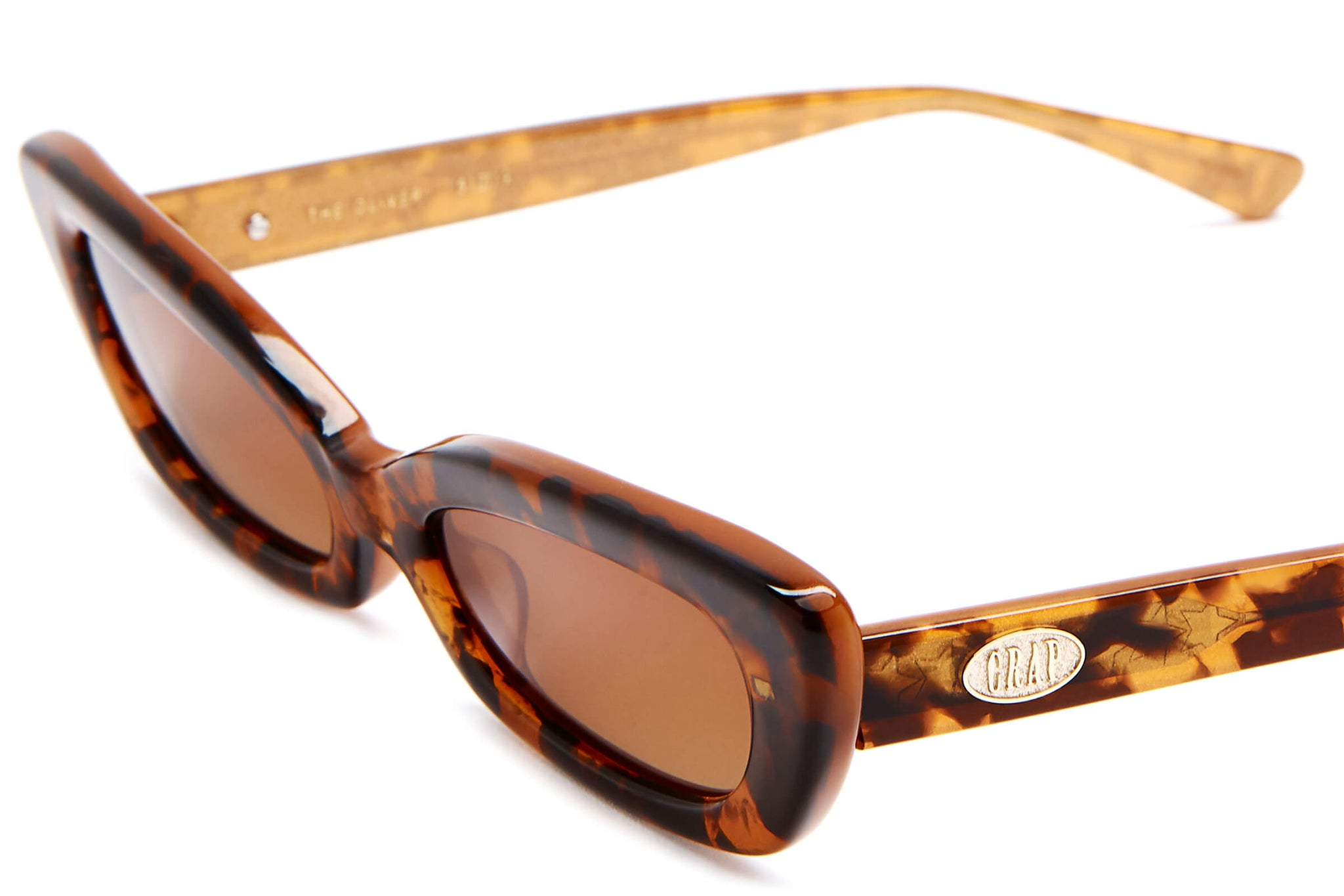 The Oliver by Emma Chamberlain - Bronze Glitter Tortoise - / Amber-Grey Gradient - Sunglasses