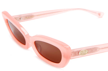 The Oliver by Emma Chamberlain - Coral Pink - / Amber - Sunglasses