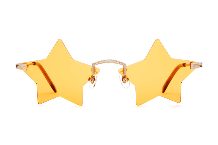 The Star Child - Emma Chamberlain White Gold - / Marigold Orange - Sunglasses