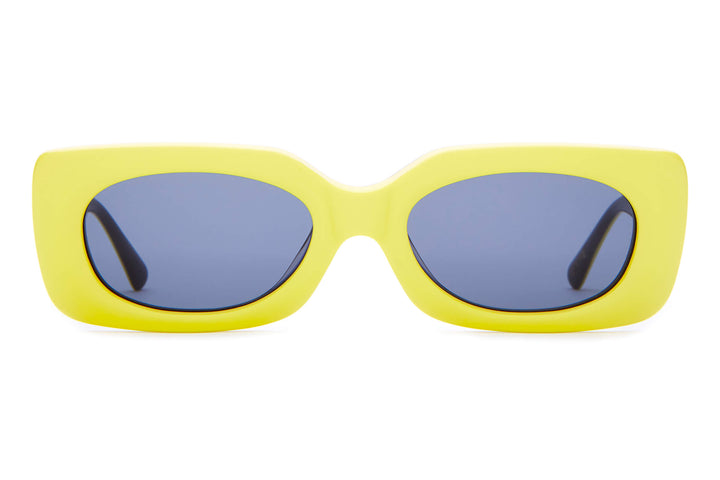 The Supa Phreek - Emma Chamberlain Neon Yellow - / Vintage Blue - Sunglasses