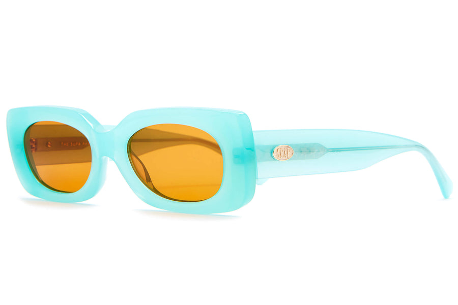 The Supa Phreek - Emma Chamberlain Turquoise - / Burnt Orange - Sunglasses