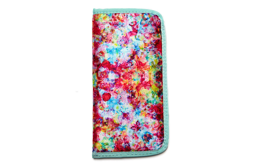 Floral Padded Sunglass Case - Psych - w/ Mint Lining - Accessories