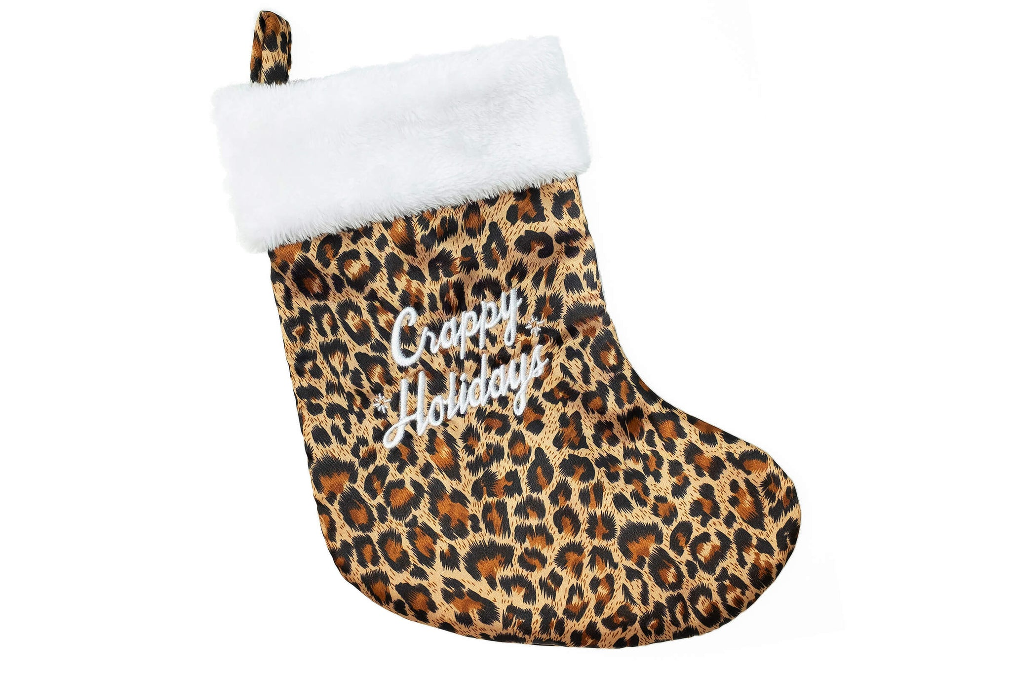 Holiday Stocking - Leopard - / White - Accessories