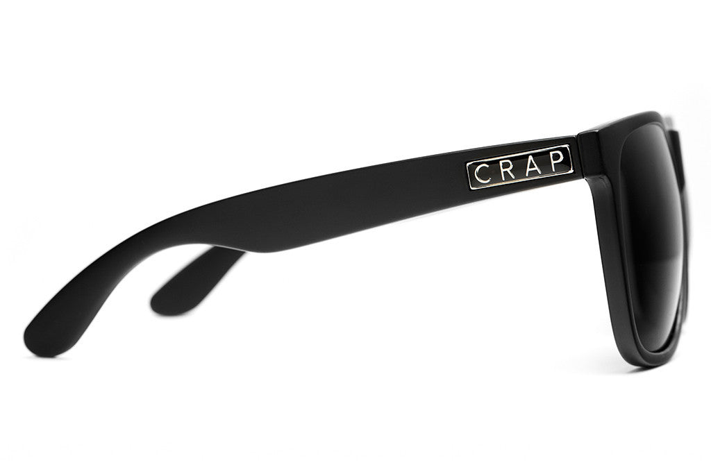 The Beach Party - Flat Black - w/ Grey CR-39 Lenses - Sunglasses