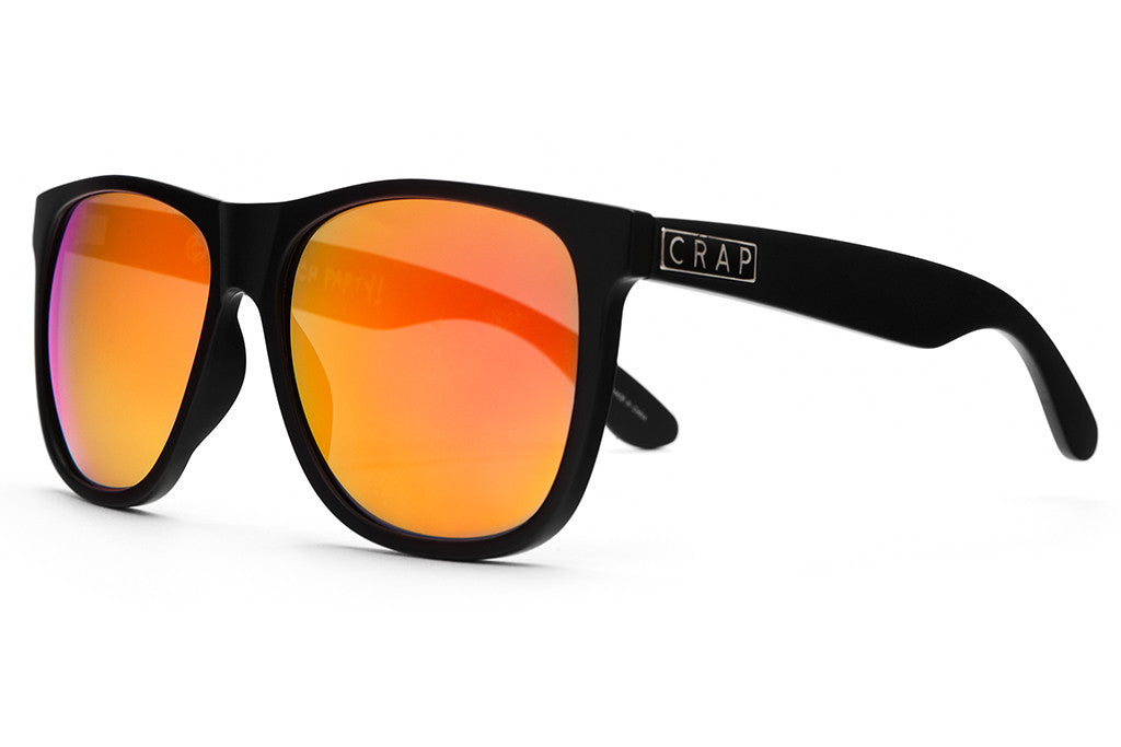 The Beach Party - Flat Black - w/ Reflective Red Lenses - Sunglasses
