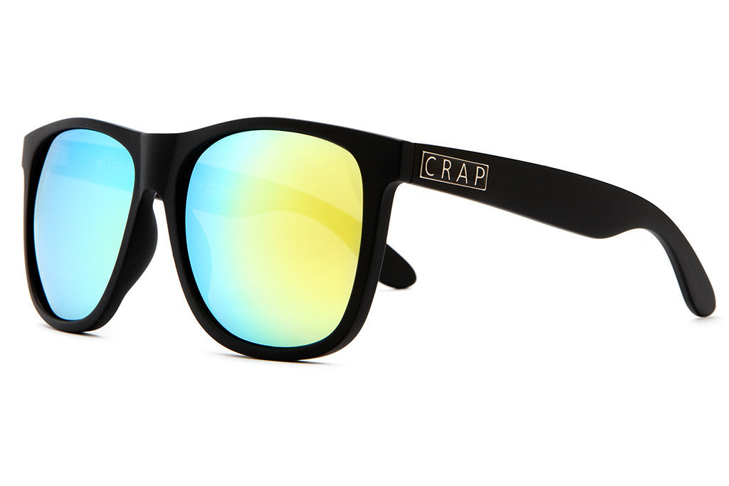 The Beach Party - Flat Black - w/ Reflective Yellow Lenses - Sunglasses