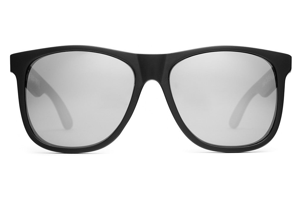 The Beach Party - Flat Black - w/ Silver Mirror Lenses - Sunglasses