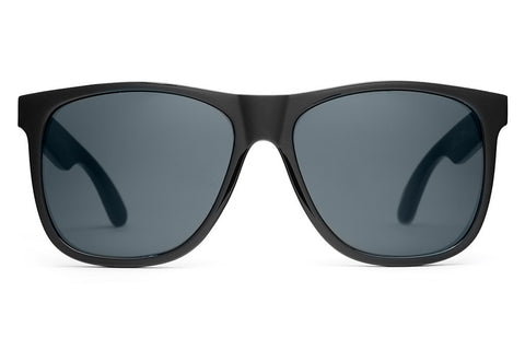 The Beach Party - Gloss Black - w/ Polarized Grey Lenses - Sunglasses