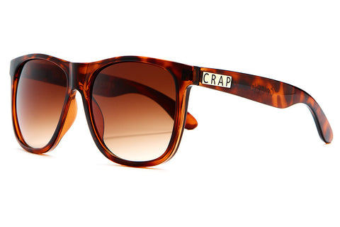 The Beach Party - Gloss Brown Tortoise - w/ Amber Gradient CR-39 Lenses - Sunglasses