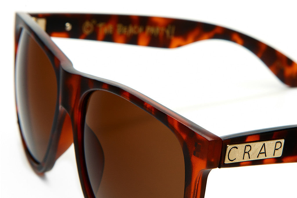 The Beach Party - Matte Brown Tortoise - w/ Amber CR-39 Lenses - Sunglasses