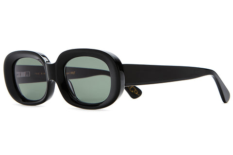 The Bikini Vision - Jared Mell Gloss Black Acetate - w/ Vintage Green CR-39 Lenses - Sunglasses
