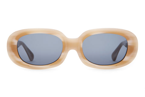 The Bikini Vision - Bone White - / Vintage Blue - Sunglasses