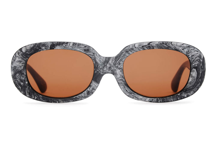 The Bikini Vision - Grey Marble - / Amber - Sunglasses
