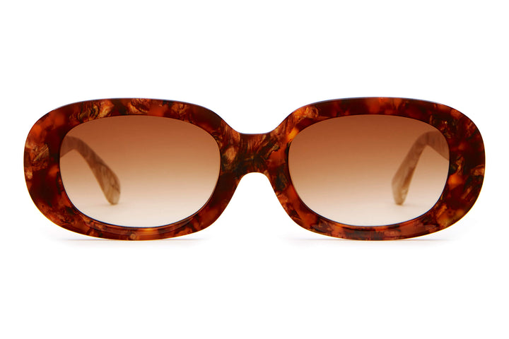 The Bikini Vision - Woodgrain - / Amber Gradient - Sunglasses