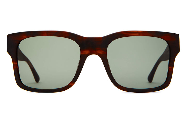 The Cosmic Freeway - Matte Dark Demi Tortoise - / Vintage Green - Sunglasses