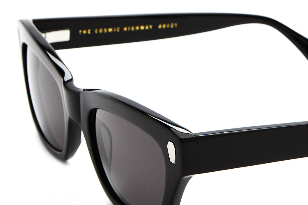 The Cosmic Highway - Gloss Black Acetate - w/ Grey CR-39 Lenses - Sunglasses