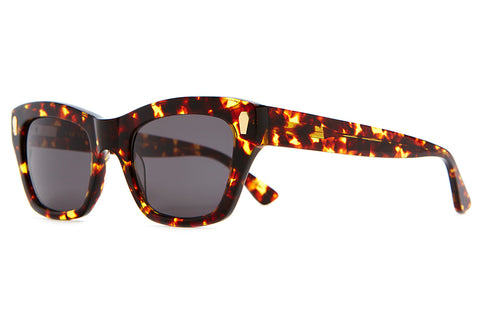 The Cosmic Highway - Gloss Dark Tortoise Acetate - w/ Grey CR-39 Lenses - Sunglasses