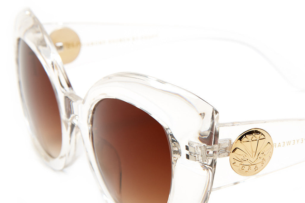 The Diamond Brunch - Crystal Clear - w/ Amber Gradient CR-39 Lenses - Sunglasses