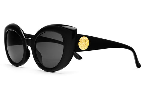 The Diamond Brunch - Gloss Black - w/ Grey CR-39 Lenses - Sunglasses