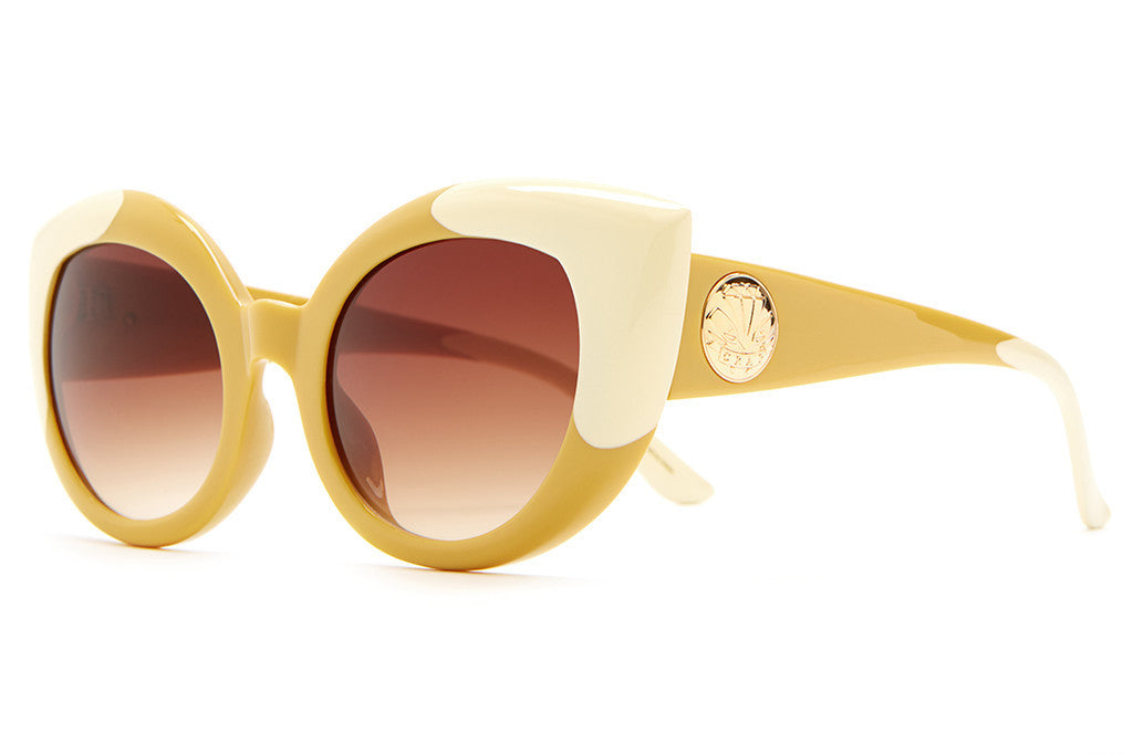 The Diamond Brunch - Gloss Caramel & Cream Tips - w/ Amber Gradient CR-39 Lenses - Sunglasses