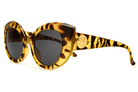 The Diamond Brunch - Gloss Jungle Tortoise - w/ Grey CR-39 Lenses - Sunglasses