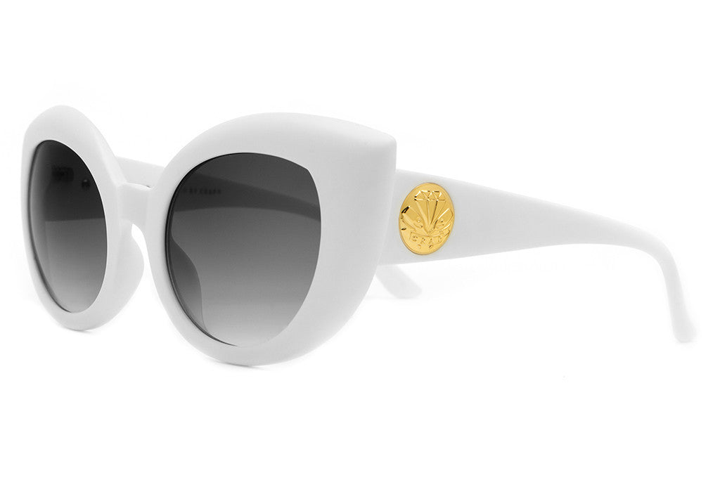 The Diamond Brunch - Matte White - w/ Grey Gradient CR-39 Lenses - Sunglasses