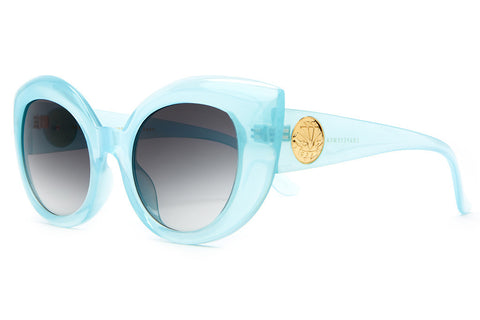 The Diamond Brunch - Semitranslucent Sky Blue - w/ Grey Gradient CR-39 Lenses - Sunglasses