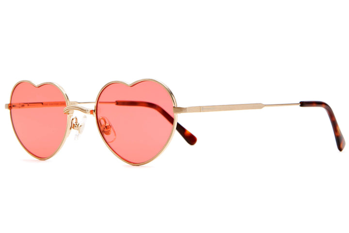 The Doctor Love - Brushed Gold & Dark Tortoise - / Cherry - Sunglasses
