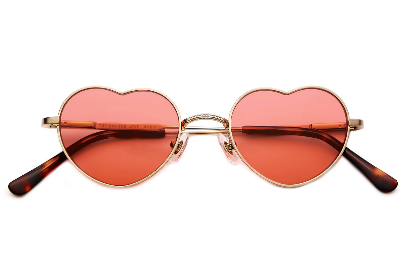 128fc8d9424 The Doctor Love - Brushed Gold   Dark Tortoise -   Deep Rose - Sunglasses