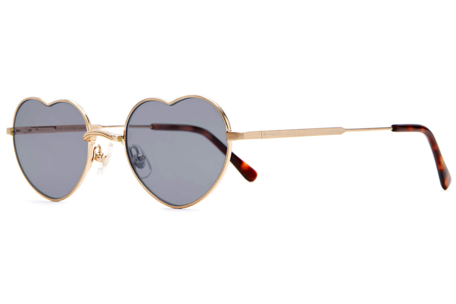The Doctor Love - Brushed Gold & Dark Tortoise - / Grey - Sunglasses