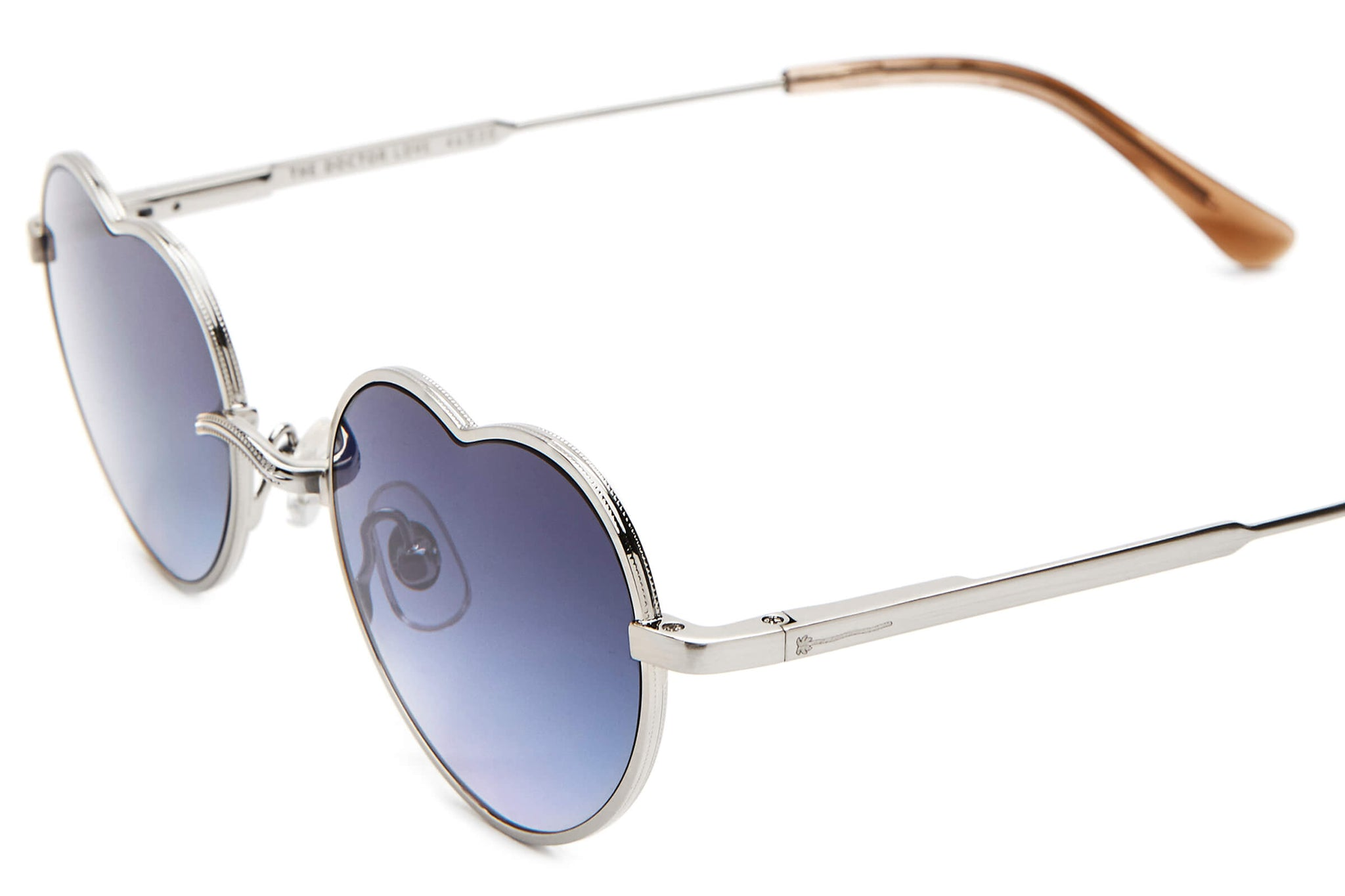 The Doctor Love - Brushed Silver & Dust Demi Tortoise - / Sky Blue Gradient - Sunglasses