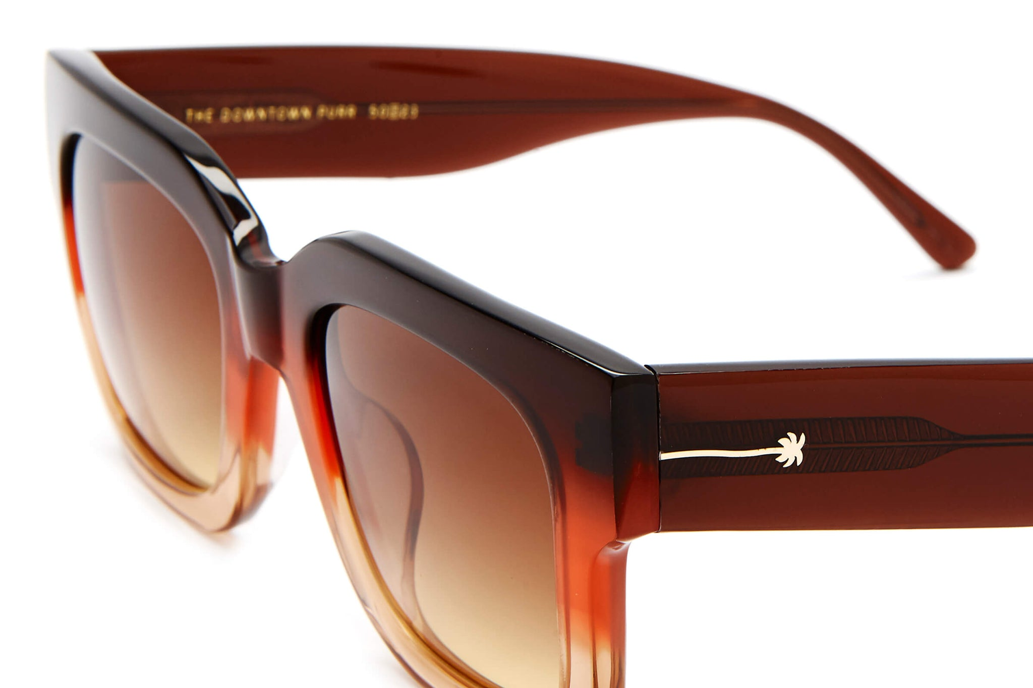 The Downtown Purr - Crystal Sunrise - / Amber-Gold Gradient - Sunglasses