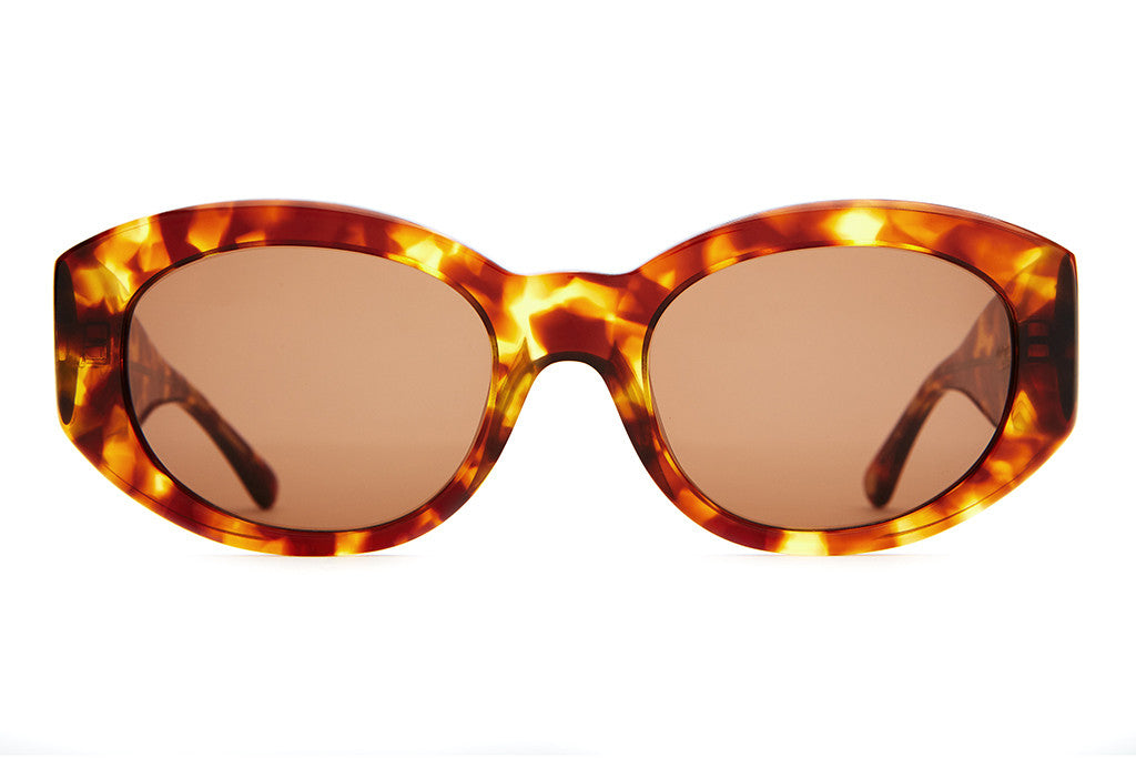 The FTP - Gloss Tortoise Acetate - w/ Amber CR-39 Lenses - Sunglasses